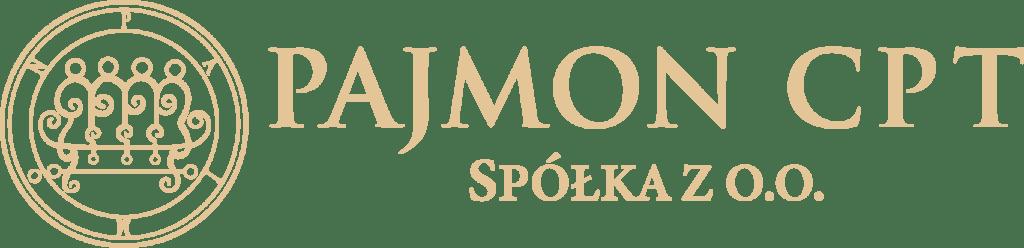 Pajmon logo firmy złote