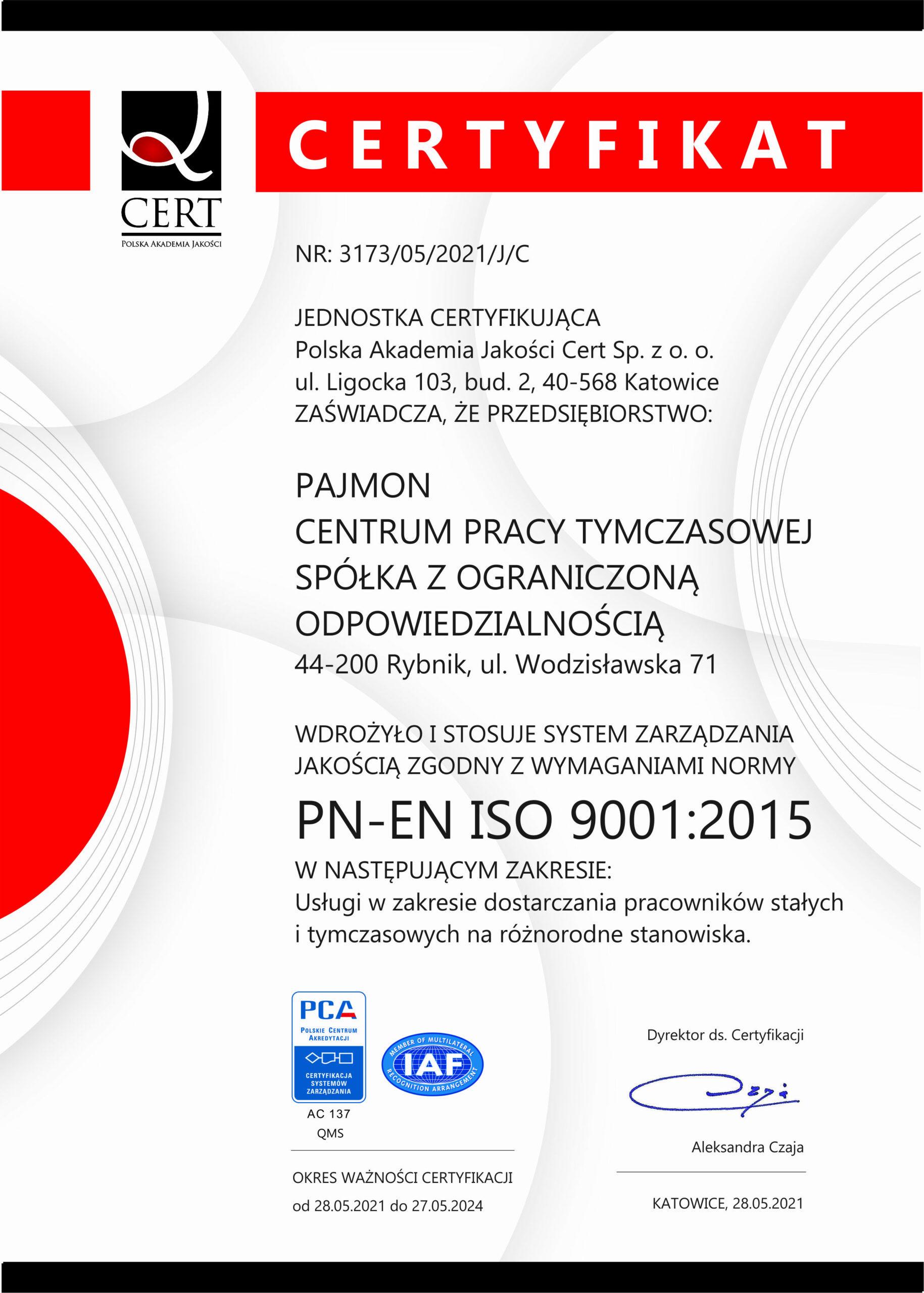 CERT Polska Akademia Jakości