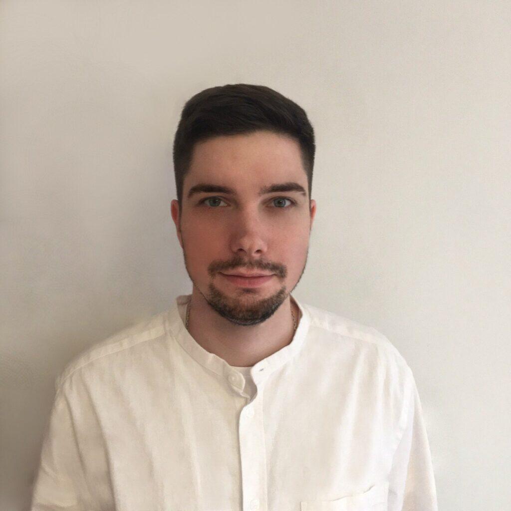 Serhii Havryliuk jest rekruterem w Krakowie